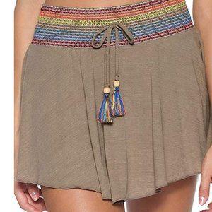 Soluna Swim Smocked Cover-up Skirt
